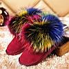 """Модные, гламурные угги """"С разноцветным мехом енота"""" РАЗНЫЕ ЦВЕТА"""