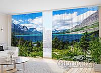"""Фото Штори в зал """"Біля озера Св. Марії"""" 2,7 м*5,0 м (2 полотна по 2,5 м), тасьма, фото 1"""