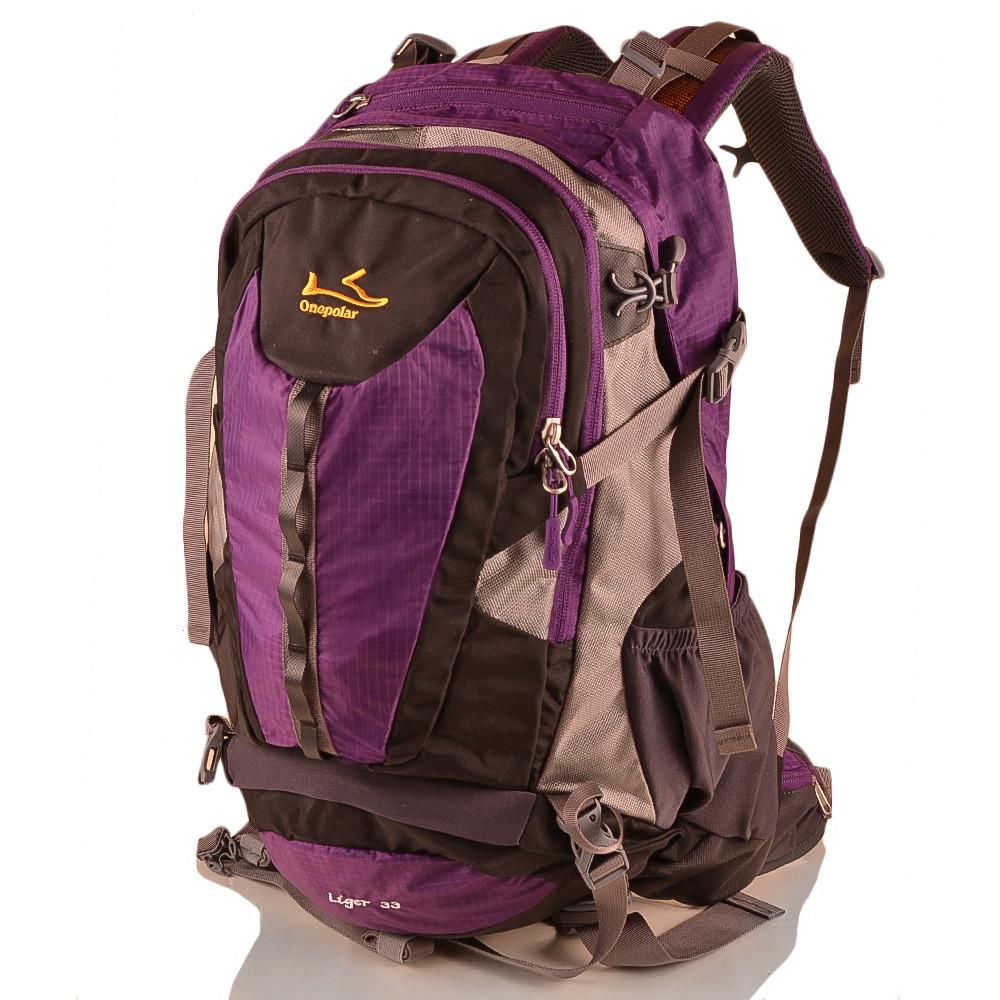 Рюкзак туристический Onepolar Женский треккинговый рюкзак ONEPOLAR (ВАНПОЛАР) W1597-violet