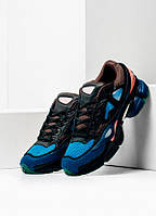 Кроссовки Adidas х Raf Simons, цвет черно-сине-голубые