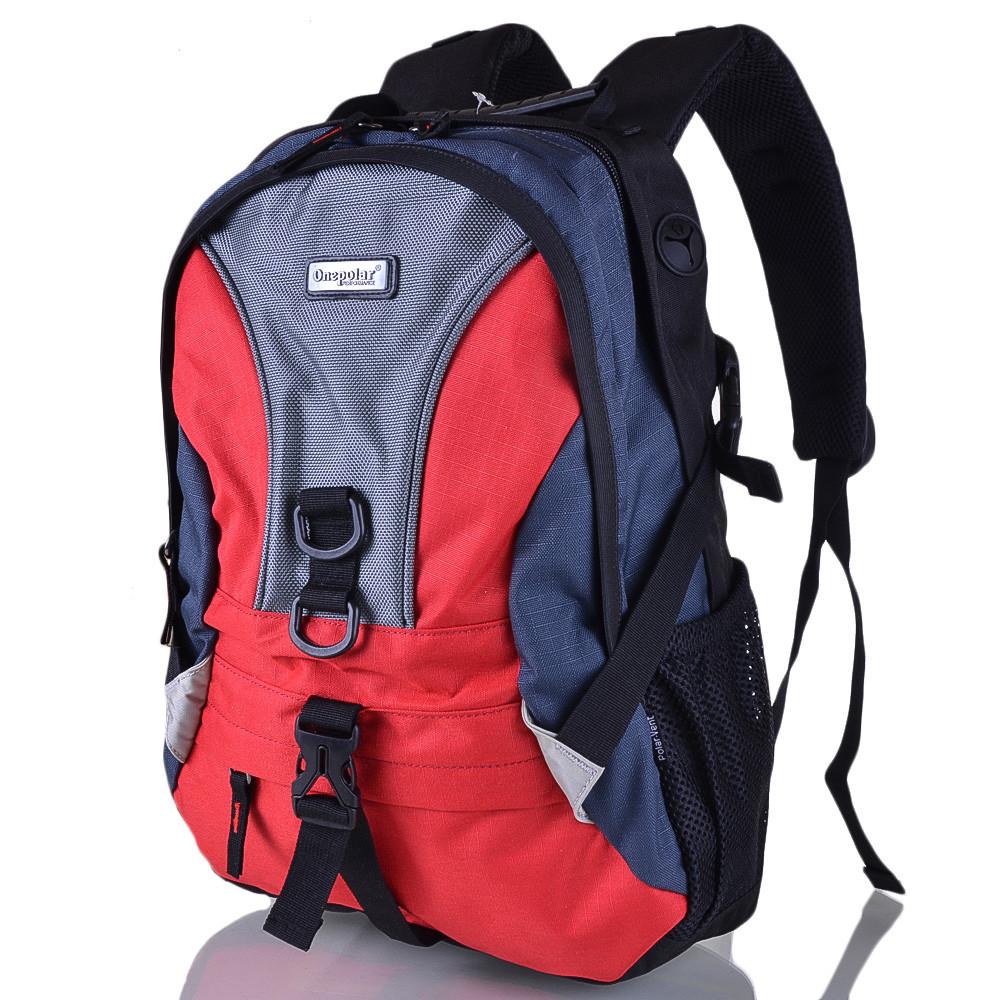 Рюкзак для ноутбука Onepolar Мужской рюкзак с отделением для ноутбука ONEPOLAR (ВАНПОЛАР) W1309-red