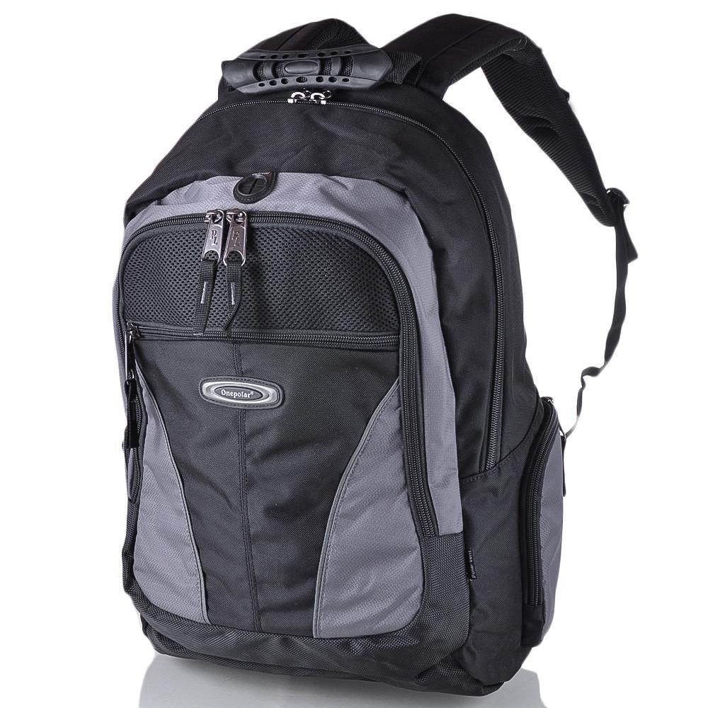 Рюкзак для ноутбука Onepolar Мужской рюкзак с отделением для ноутбука ONEPOLAR (ВАНПОЛАР) W1077-grey
