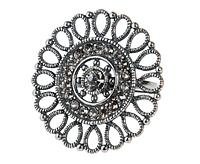 """Кольцо """"Кристоль"""" с кристаллами Swarovski, покрытое серебром (j0543000)"""