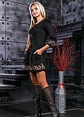 Розкішне модне плаття з еко-замші
