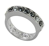 """Кольцо """"Плесис"""" с кристаллами Swarovski, покрытое родием (j709f060)"""
