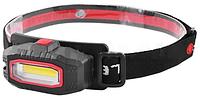 Фонарь на лоб пластик YX-103-COB (белый + красный), 360 градусов, 2xAAA LO