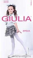 Kолготки белые для девочек с рисунком AMELIA 40 model 2