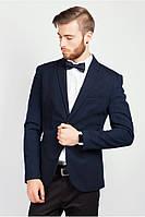 Стильный качественный мужской пиджак Т/синий