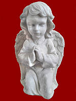 Скульптура Ангел молится №10 (мрамор белый) 41 см.