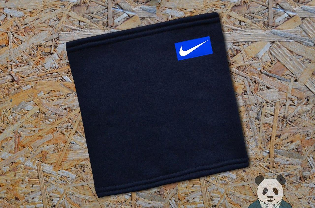 Теплый зимний бафф, нашивка Nike реплика