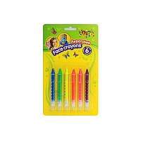 Аквагрим, карандаши для лица 6 цветов неон детская косметика