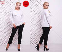 Новая коллекция для женнщин PLUS SIZE! Элегантный, женский комплект блуза + брюки.РАЗНЫЕ ЦВЕТА