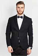 Стильный качественный мужской пиджак Черный
