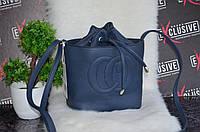 Синяя сумочка в стиле Gucci гуччи на завязку.