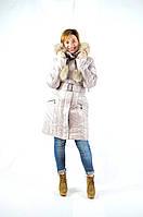 Женская зимняя куртка капюшон-шапка