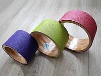 Деревянное колесо для йоги YogaGoPro диаметр и цвета в ассортименте