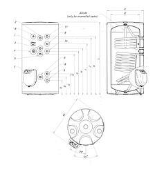 Комбинированный водонагреватель Roda CS0150FHD (два теплообменника), фото 2