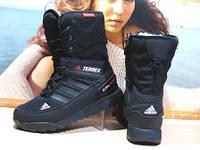 Женские ботинки Adidas climaproof (реплика) черные 38 р.