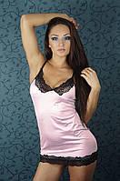 Женская красивая ночная рубашка, с нежным кружевом