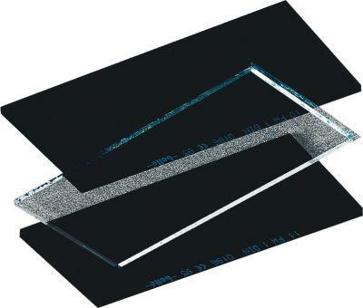 Стекло сменное для защитной маски прозрачное 52мм×102мм
