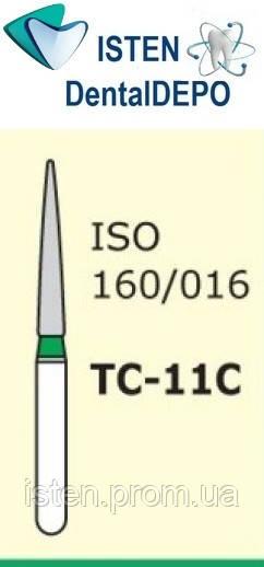 Боры TC-11С - зелёный конусообразный с острым кончиком, MANI (3 шт.)