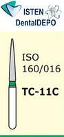 Боры TC-11С - зелёный конусообразный с острым кончиком, MANI (3 шт.), фото 1