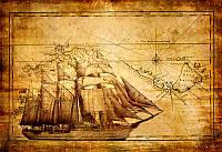 Парусник на старинной карте