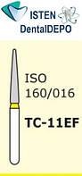 Боры TC-11EF - жёлтый конусообразный с острым кончиком, MANI (3 шт.), фото 1