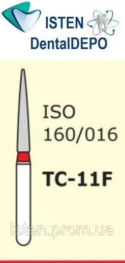 Боры TC-11F - красный конусообразный с острым кончиком, MANI (3 шт.)