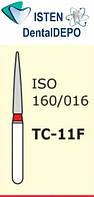 Боры TC-11F - красный конусообразный с острым кончиком, MANI (3 шт.), фото 1