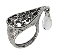 """Кольцо """"Зафира"""" покрытое серебром (r23230k0) 17"""