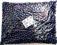 Бусы, цвет темно-синий№8мм (500грм в упаковке)