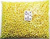 Бусы, цвет желтый№8мм (500грм в упаковке)