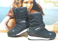 Ботинки женские Adidas climaproof (реплика) серые 39 р., фото 1