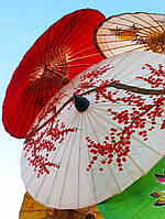 Прикольный Декоративный Зонт для Танцев Оригинальный Аксессуар Зонтик для Тематической Вечеринки