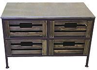 Диван-тумба кованый №14 на 4 ящика