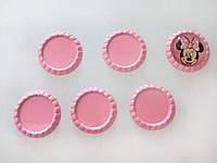 Крышка для кабошона (розовая) 3,3 см (внутр 2,5 см)
