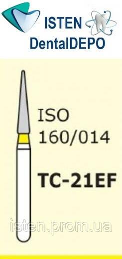 Боры TC-21EF - жёлтый конусообразный с острым кончиком, MANI (3 шт.)