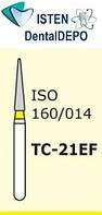 Боры TC-21EF - жёлтый конусообразный с острым кончиком, MANI (3 шт.), фото 1