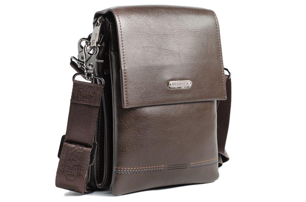 Небольшая мужская сумка Bradford 930-1 Brown