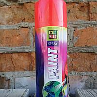 Флуоресцентная аэрозольная эмаль. Belife Fluor Paint 1001 Красный