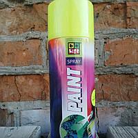 Флуоресцентная аэрозольная эмаль. Belife Fluor Paint 1005 Желтый
