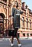 Эффектное трикотажное платье (трёхнитка, стильный принт, контрастная отделка, рукава 3/4) РАЗНЫЕ ЦВЕТА!