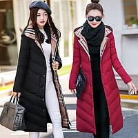 Пуховик - пальто женский *Классика*. Новая модель, в стиле Burberry 2017 - 18 г.)