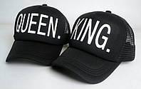 Кепка тракер King & Queen (Король и Королева) с сеточкой, Унисекс