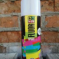 Флуоресцентная аэрозольная эмаль. Belife Fluor Paint 1010 Белый