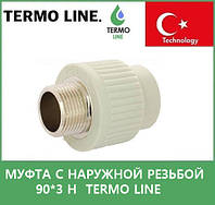 муфта с наружной резьбой 90*3 н  Termo Line