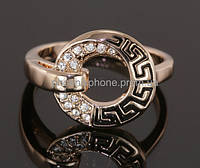 Кольцо в античном стиле с кристаллами Swarovski, покрытое золотом (108760)