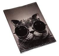 Обложка для паспорта  -Крутой кот-
