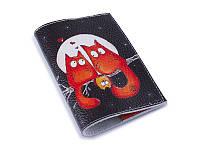 Кожаная женская обложка для паспорта -Семья рыжих-
